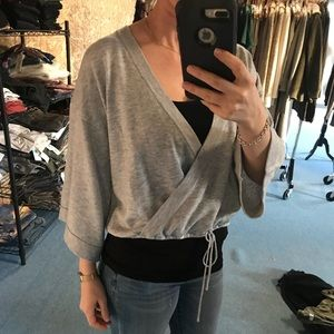 MinkPink Her Story Wrap Front Sweater NWT
